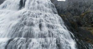 大瀑布在西峡湾区冰岛 股票视频
