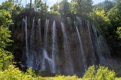 大瀑布在Plitvice 免版税库存图片