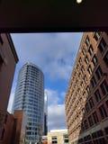 大瀑布城街市与Jw马里奥特 库存照片