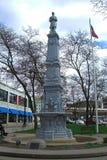 大瀑布城,密执安-南北战争战士纪念碑 免版税库存照片