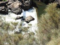 大瀑布峡谷的,朗塞斯顿,塔斯马尼亚岛南Esk河 免版税库存图片