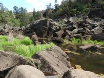 大瀑布峡谷第一个水池,朗塞斯顿,塔斯马尼亚岛 库存图片