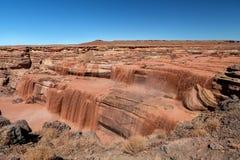 大瀑布巧克力秋天是在旗竿,亚利桑那东北部 图库摄影