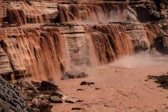 大瀑布巧克力秋天是在旗竿,亚利桑那东北部 免版税图库摄影