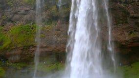 大瀑布Skogafoss,冰岛 影视素材