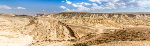 大火山口, Neqev沙漠 免版税库存图片