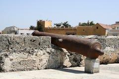 大炮卡塔赫钠墙壁 库存图片