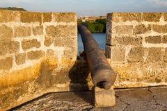 大炮和塔楼 库存照片