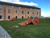 大炮在挪威 库存照片