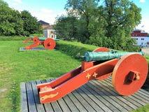 大炮在挪威 免版税库存照片