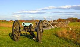 大炮在葛底斯堡 库存照片
