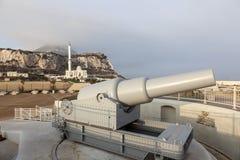大炮在直布罗陀 免版税库存照片
