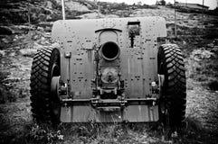 大炮德语 库存图片