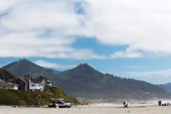 大炮海滩在俄勒冈 库存图片
