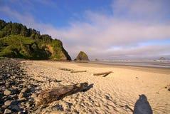 大炮海滩,俄勒冈 免版税库存图片