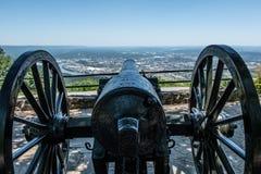 大炮瞄准了田纳西河谷 免版税库存照片