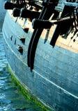 大炮船 库存图片