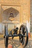 大炮,城市宫殿在印度 库存照片