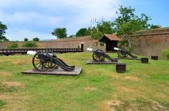 大炮-卡罗来纳州城堡在阿尔巴尤利亚,罗马尼亚 免版税库存照片