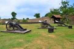 大炮-卡罗来纳州城堡在阿尔巴尤利亚,罗马尼亚 库存图片