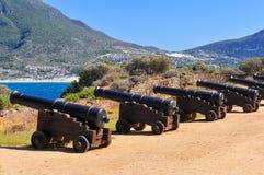 大炮-开普敦,南非海岸 免版税库存图片
