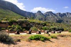 大炮-开普敦,南非海岸 库存图片