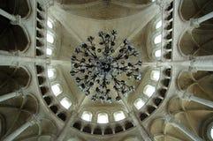 大烛台教会哥特式内部 库存图片