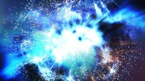 大爆炸理论光晕和宇宙的扩展 库存例证