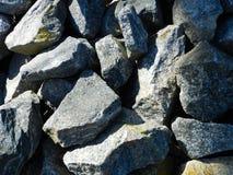 大片段花岗岩小的石纹理 图库摄影