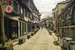 大特尔诺沃,保加利亚, 2015年4月03日, :Georgi Sava拉科夫斯基街道、游人和客商最著名的街道的在Veliko Ta 免版税库存图片