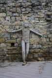 大特尔诺沃,保加利亚- 2015年4月03日:在前面o的泥雕象 图库摄影