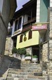 大特尔诺沃BG, 8月15日:中世纪镇大特尔诺沃的老议院从保加利亚的 免版税库存照片