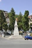 大特尔诺沃BG, 8月15日:自由纪念碑在从保加利亚的中世纪镇大特尔诺沃 库存照片