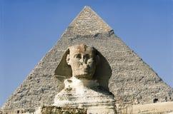 大狮身人面象 金字塔,古老文明巨石结构  免版税库存图片