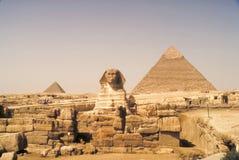 大狮身人面象 金字塔,古老文明巨石结构  图库摄影