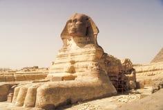 大狮身人面象 金字塔,古老文明巨石结构  免版税库存照片