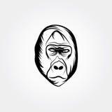 大猩猩传染媒介设计模板 免版税库存图片