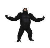 大猩猩咆哮声侵略例证 免版税库存照片