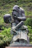 大猩猩雕象 库存图片