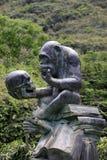 大猩猩雕象 免版税库存图片