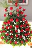 大玫瑰色花束 库存图片