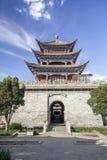大理古老门在老镇,云南,中国 库存照片