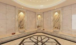 大理石土耳其语Hamam,浴现代设计 免版税库存图片