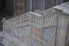 大理石在共和国总督宫殿的被雕刻的步 免版税库存图片