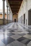 大理石地板,室内宫殿,城堡de托莱多,西班牙 免版税库存图片