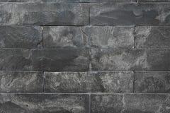 黑大理石墙壁纹理  免版税库存图片