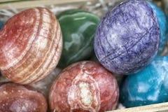 大理石复活节彩蛋 免版税图库摄影