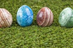 大理石复活节彩蛋 库存照片