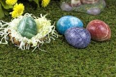 大理石复活节彩蛋 库存图片