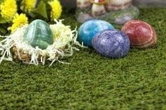 大理石复活节彩蛋 免版税库存照片